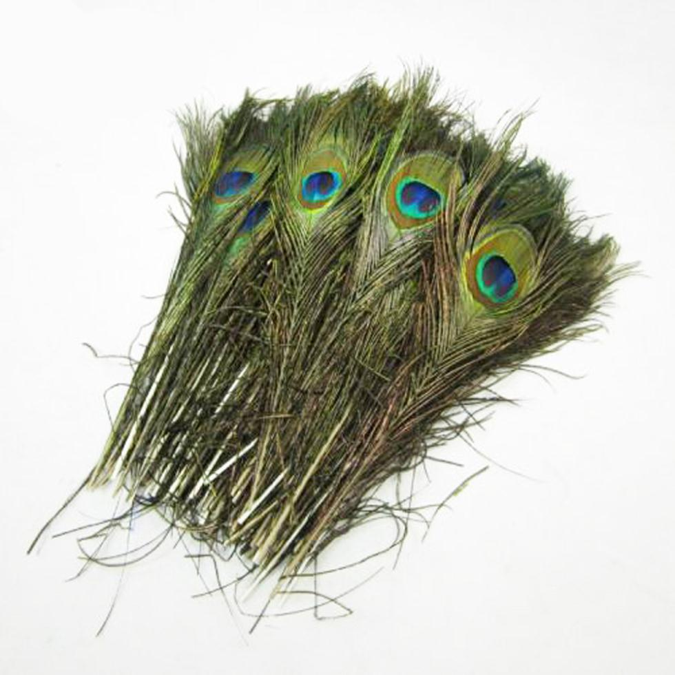 IMC Wholesale Pack of 25pc Natural Peacock Feathers 10-12''(China (Mainland))
