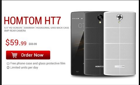Предварительно продам Оригинальные Homtom смартфон НТ3 5.0 5.1 для Android с 3G-сети WCDMA MTK6580 четырехъядерный 3000 мАч 1 Гб оперативной памяти 8 Гб ROM 5.0 MP разблокирована