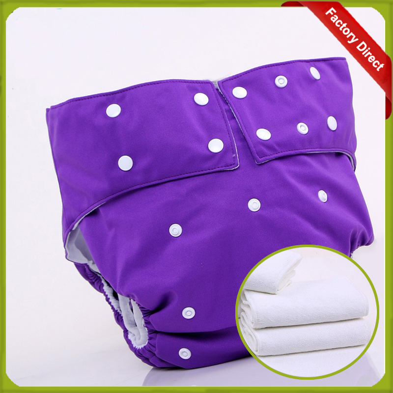 Adjustable PUL Reusable Adult Waterproof Pants Incontinence Cloth Diaper Nappy (1 pcs nappies+2 pcs insert)(China (Mainland))