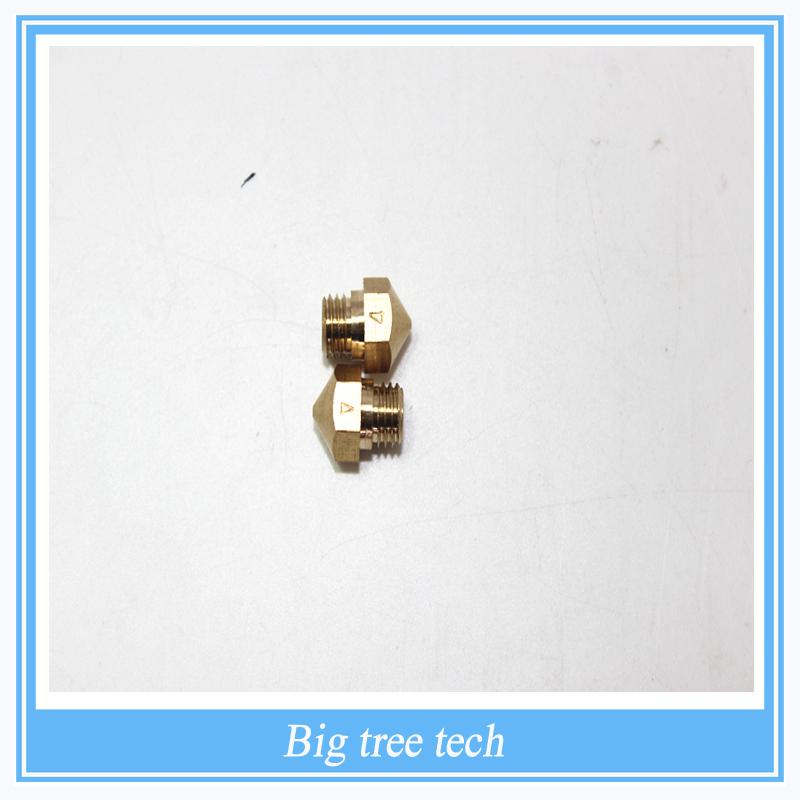 50PCS 3D printer accessories MAKERBOT 2 generation of all-copper nozzle  Replacement MK8 0.4mm Nozzle<br><br>Aliexpress