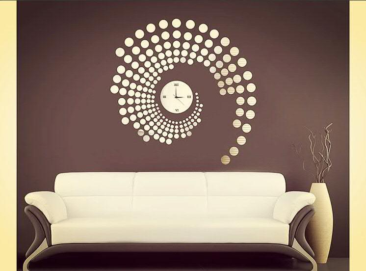 2014 new round circle dot modern design wall decor diy for Diy photographic mural
