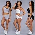 Tracksuit Women Two Piece Set Fashion Sport Suit Patchwork Sportwear Bra Crop Top And Elastic Legging Jogging For Women Fitness