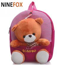 2016 Cartoon Kid School Backpack For Child School Bag For Kindergarten Girl Baby Student School Boy Cute bear Backpack P5(China (Mainland))