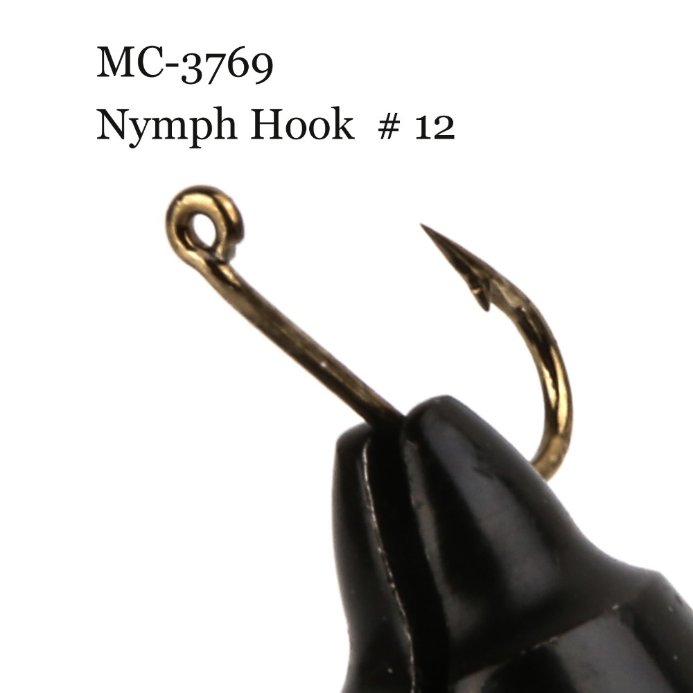 500 pieces mc 3769 size 12 fly tying hook nymph fly for Fly fishing hook sizes