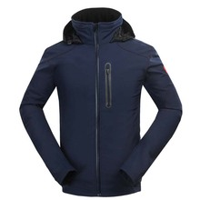 New Ventilated Outdoor Jacket Men Water resistant Coat Softshell Windbreaker Drak Blue Jaqueta Masculina With Detachable Hooded(China (Mainland))