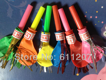HOT  50pcs /lot  whistle balloon  Party Balloon Kids Toy assorted color