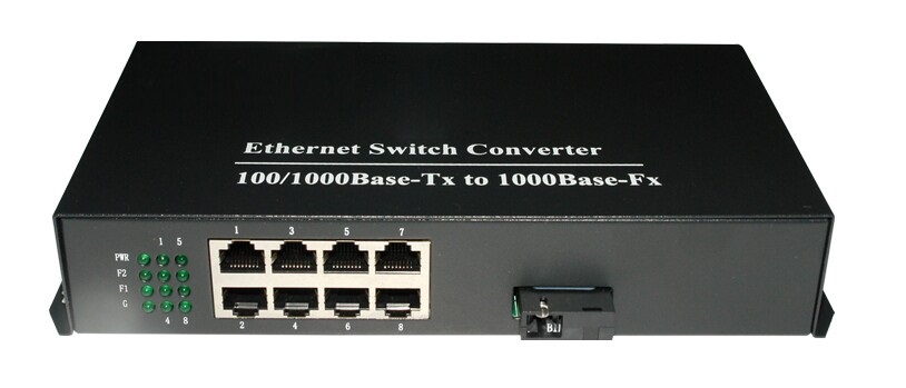 100/1000Mbps 8port Ethernet fiber optic media converter -SC ethernet switch - vscheap trade CO., LTD.'s store