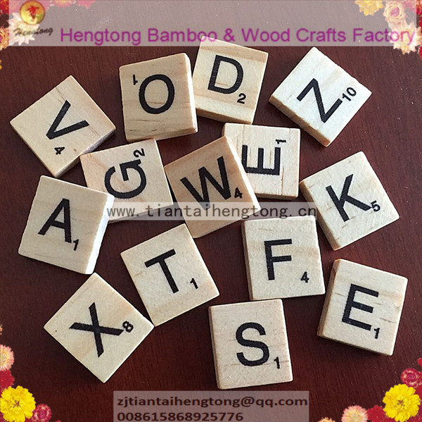 10BAGS of 100PCS/PACK NATURAL CLEAR VARNISHED WOODEN SCRABBLE TILES, WOODEN ALPHABET, CUSTOM Scrabble Letters <br><br>Aliexpress