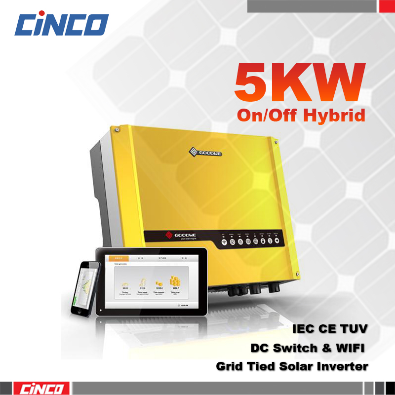 Goodwe 48V5kw,off-grid and grid connected solar inverter,energy storage, power grid, energy storage equipment, local load.(China (Mainland))