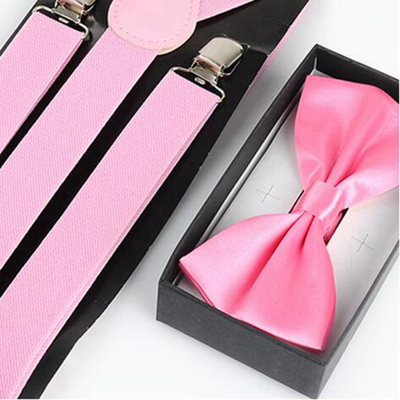 New Arrival Women Red Suspenders Tie Bow Set 3 Clasp Elastic Clip-On Pant Suspensorio Y-Back Braces YJWA004