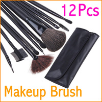 12 pcs New Arrival Cosmetic Brushes Makeup Brushes Set Makeup Cosmetic Brushes with Beautiful Case Free shipping
