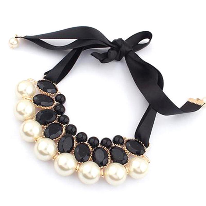 Новый завод прямые мода себе элегантный смоделированные-жемчуг конфеты цвет колье кулон цепи ожерелье ювелирные CCN108
