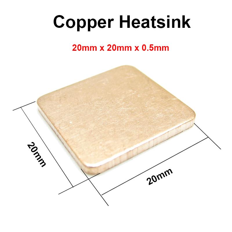 10pcs/lot 20x20x0.5mm DIY Copper Shim Heatsink thermal Pad Cooling for XBOX360 PS2 3 4 BGA CPU VGA Chip RAM IC Cooler Heat sink(China (Mainland))