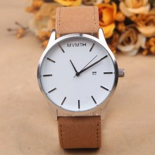2016 New Fashion Brand Men Sports Watches Quartz-watch Relogios Masculino Leather Strap Clock Male Relojes Watch Analog Digital