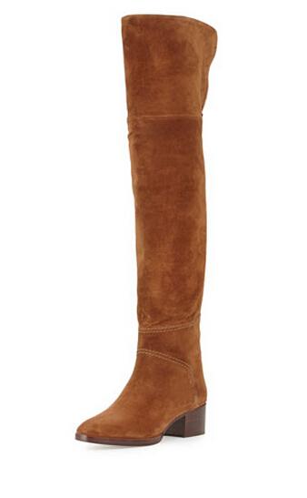 Laine de mrinos cuisse haute botte chaussettes jambires