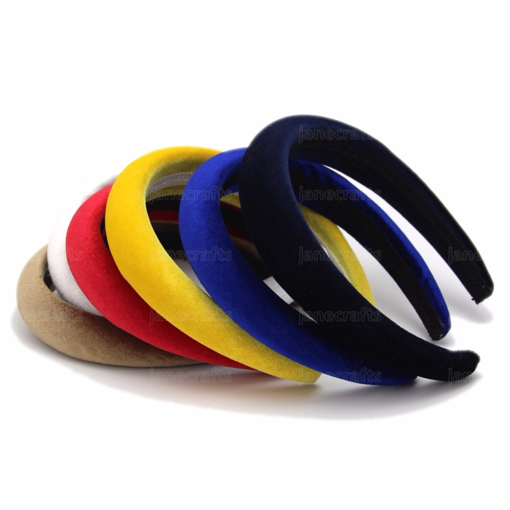 Hot Sales 2016 Solid Color Velvet Plastic Hairband Headwear Brief Fashion Girls Women Headband Lovely Hair Accessories(China (Mainland))