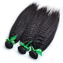 Brazilian kinky straight Virgin Hair,China Factory wholesale price , Top human hair yaki straight 3pcs /lot free shipping(China (Mainland))