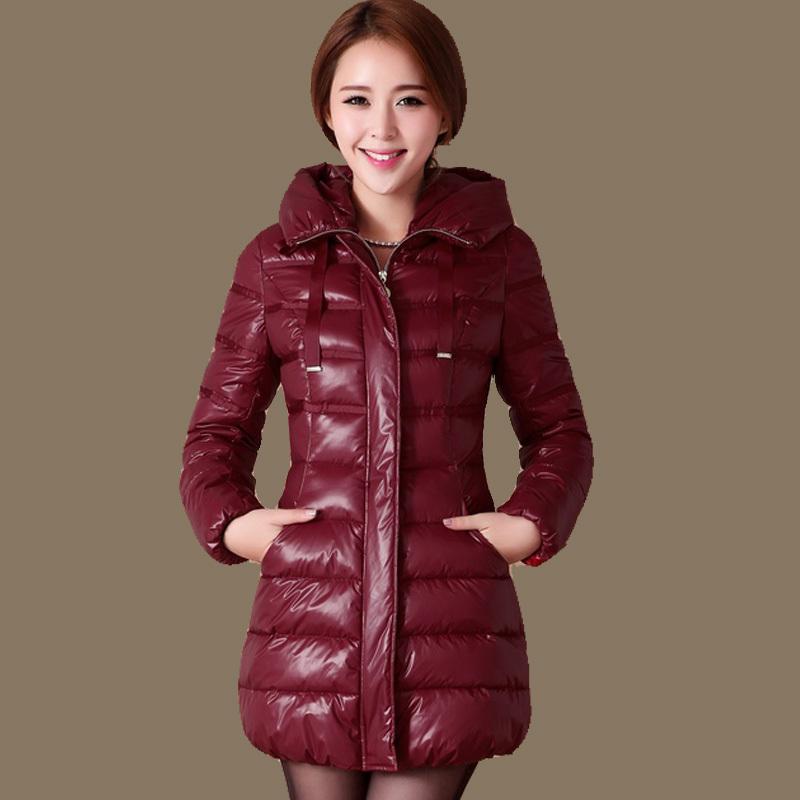 Duck down women jacket Coat plus size thick warm winter coat jacket new Slim thin Long Hooded Down Coat winter parkas DM806