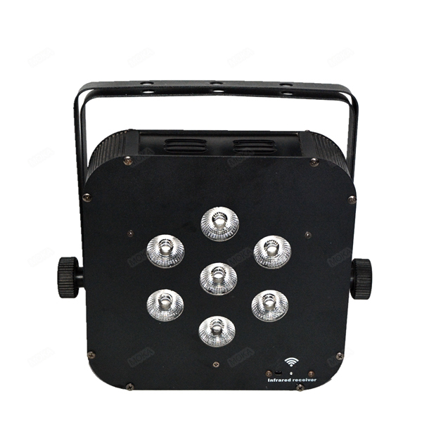LED lighting product 7x10W Battery Powered Wireless DMX LED Par Cans Lights For Stage(China (Mainland))