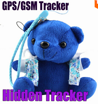 Hidden Plush Cartoon Toy Bear GPS/GSM/GPRS Personal Tracker - IDL100 Tracking Device for kids Plush Toy Key chain GPS Tracker(China (Mainland))