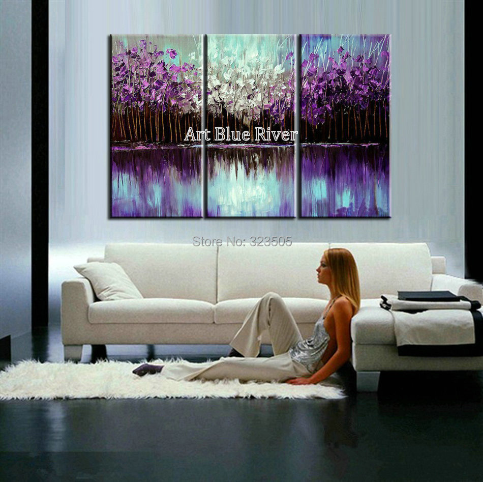 Online buy wholesale canvas purple tree from china canvas purple ...