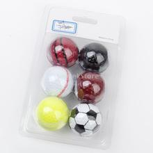 Assorted Designs Golf Balls (Basketball, Football, Tennis, Baseball, 8-Ball, Volleyball) - 6 balls(China (Mainland))