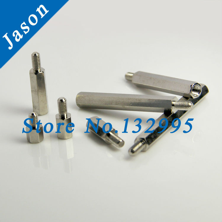M4*40+6  Brass Standoff Spacer/Male Female/Brass Threaded Spacer hex spacer (Brass Standoff Spacer M4*L+6 Nickel plated)<br><br>Aliexpress