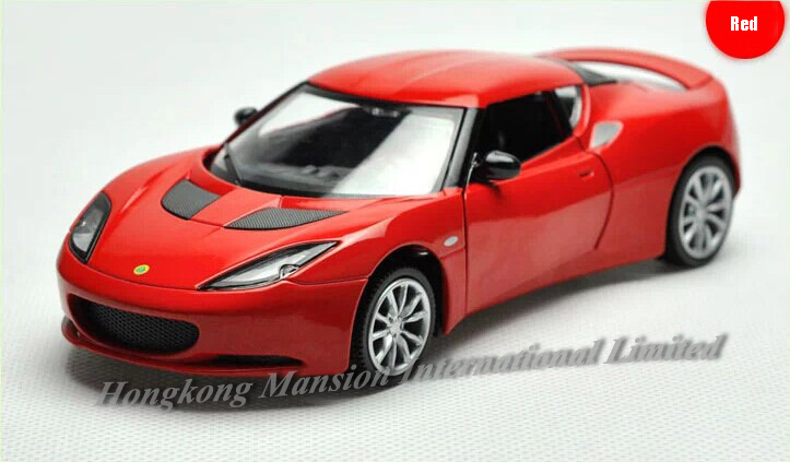 1:32 Scale Alloy Metal Diecast Car Model For Lotus Evora Collection Model Luxury Racing Pull Back Toys Car With Sound&Light(China (Mainland))