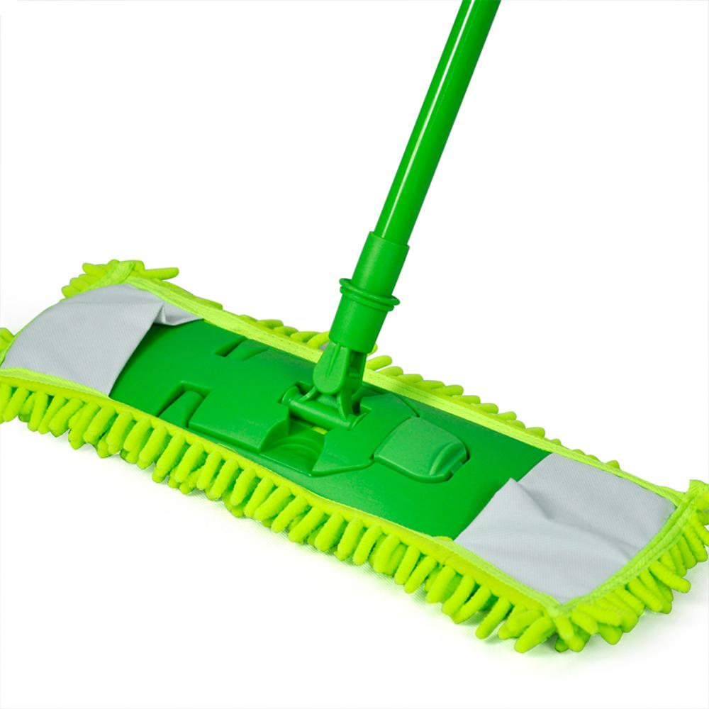 WSFS Hot New Extendable Microfibre Mop Cleaner Sweeper Wet Dry - Green(China (Mainland))