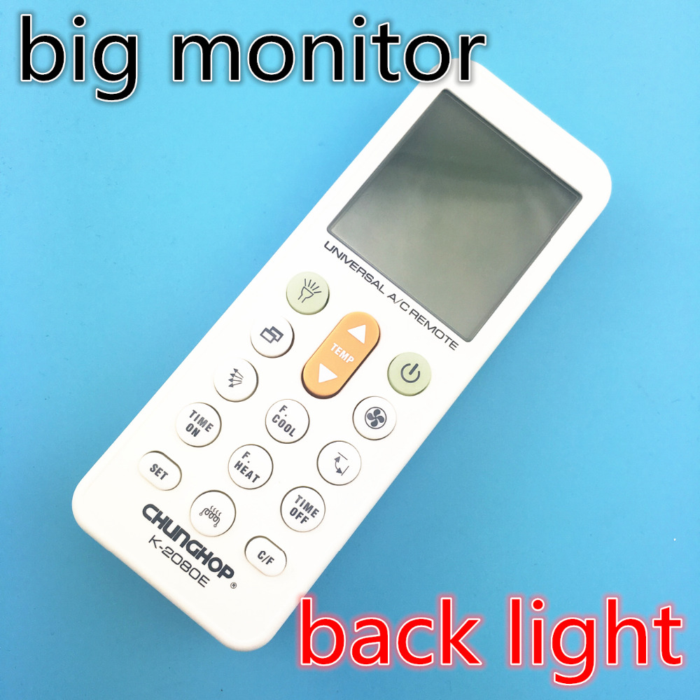 with back light 5000C0DE IN1 Universal A/C controller Air Conditioner air conditioning remote control CHUNGHOP K-2080EH K2080EH(China (Mainland))
