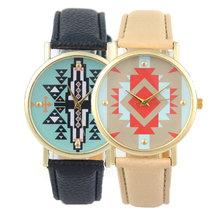 2015 caliente nueva moda impresión clásica de la PU piel mujer chica pulsera de cuarzo analógico relojes mujeres casual reloj digital del reloj de mujer