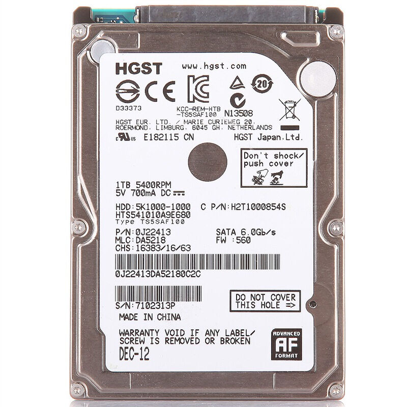"HGST 2.5"" HDD 1TB 5400RPM 8M(1000GB) Internal Laptop Hard Drives disk SATAIII 1t for Notebook HTS541010A9E680(China (Mainland))"