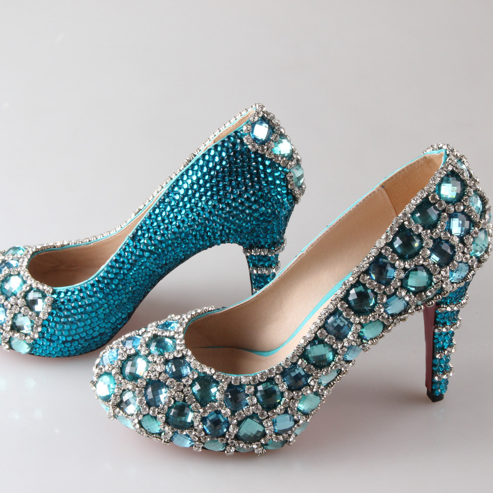 Aqua Blue Shoes Heels
