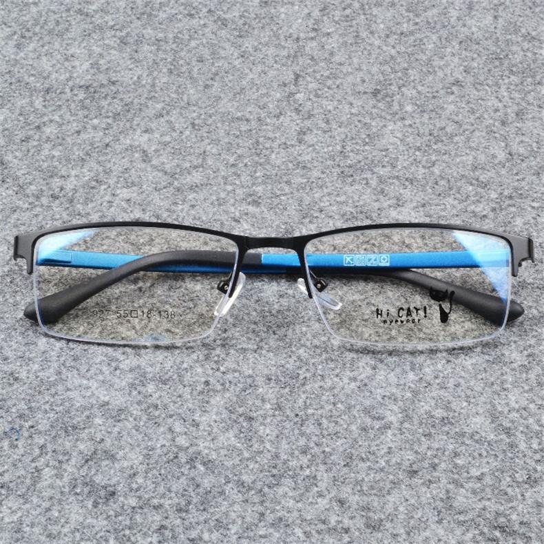Gentlemen Fashion Eye Glasses Male Blue Half Rimmed Optical Glasses Frame(China (Mainland))