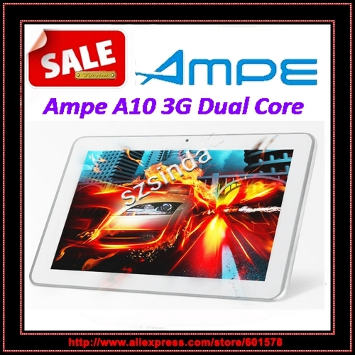 Ampe A10 Dual Core 3G Phone Call Android4.0 10.1inch IPS Screen 1.2GHz 1G RAM Dual Cameras GPS Tablet PC / Anna(Hong Kong)