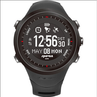 Spovan Multfunctional Dual display Running GPS Motion Sports Watch Heart Rate Monitor LED Digital 3D Pedometer Military(China (Mainland))
