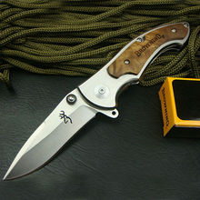 Top Quality Browning 337 Folding Blade Knife Tactical Knife White Wood Handle Camping Knives Steel Blade 19.8cm Hunting knife