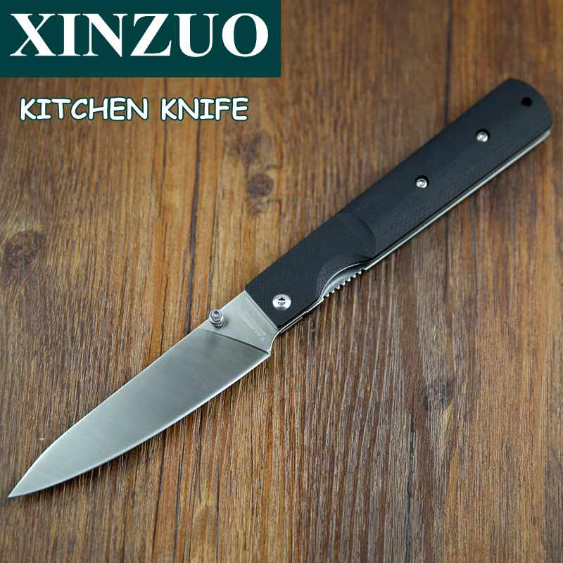 Nice Kitchen Knives: NEWEST 440A Steel Pocket Folding Kitchen Chef Knife High