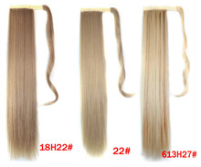 wholesale retail 18 colors available drawstring ponytail hair extensions synthetic hair invisable ponytail straight 22 inches