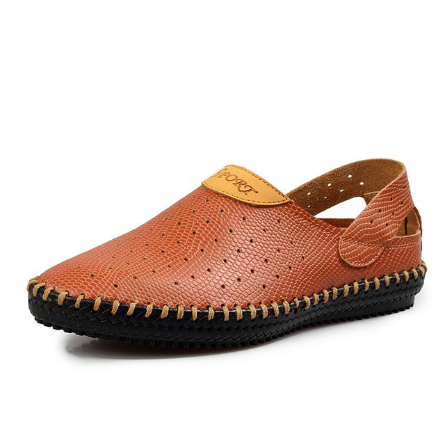 Новейшей конструкции мужчины летние сандалии стиль квартиры мода свободного покроя ...