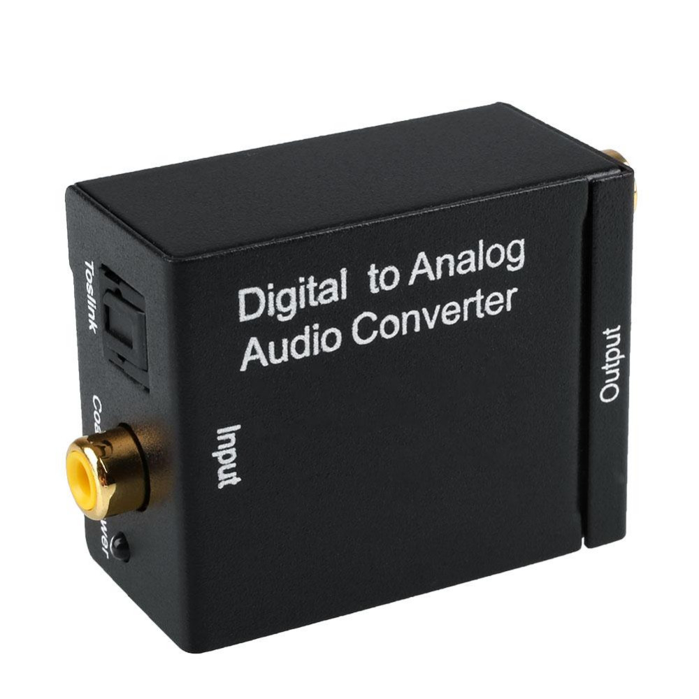 DAC Digital Optical SPDIF Coax To Analog L/R RCA Audio Converter Adapter Support AMP Analog L/R stereo audio Output(China (Mainland))
