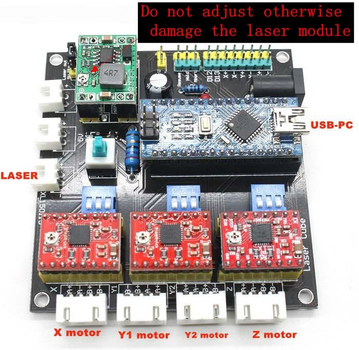 Mini laser engraving machine laser cnc dashboard control for Stepper motor control software