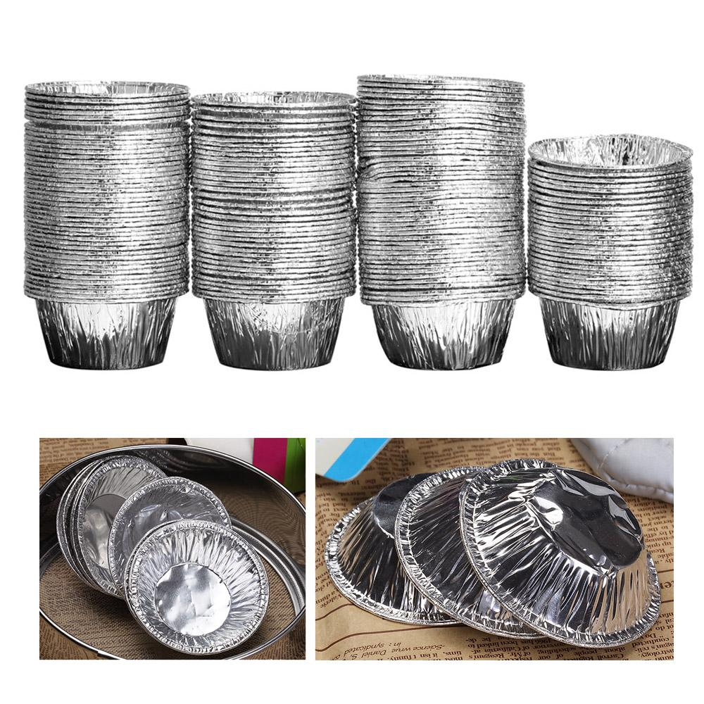150pcs Disposable Aluminum Foil Baking Tools Cookie Muffin Cupcake Egg Tart Mold Round Cooking Tools(China (Mainland))
