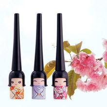 1 X Random Color!! Cute Lucky Dool Eye Makeup Cosmetic Tool Waterproof Black Liquid Eyeliner Pen K6172