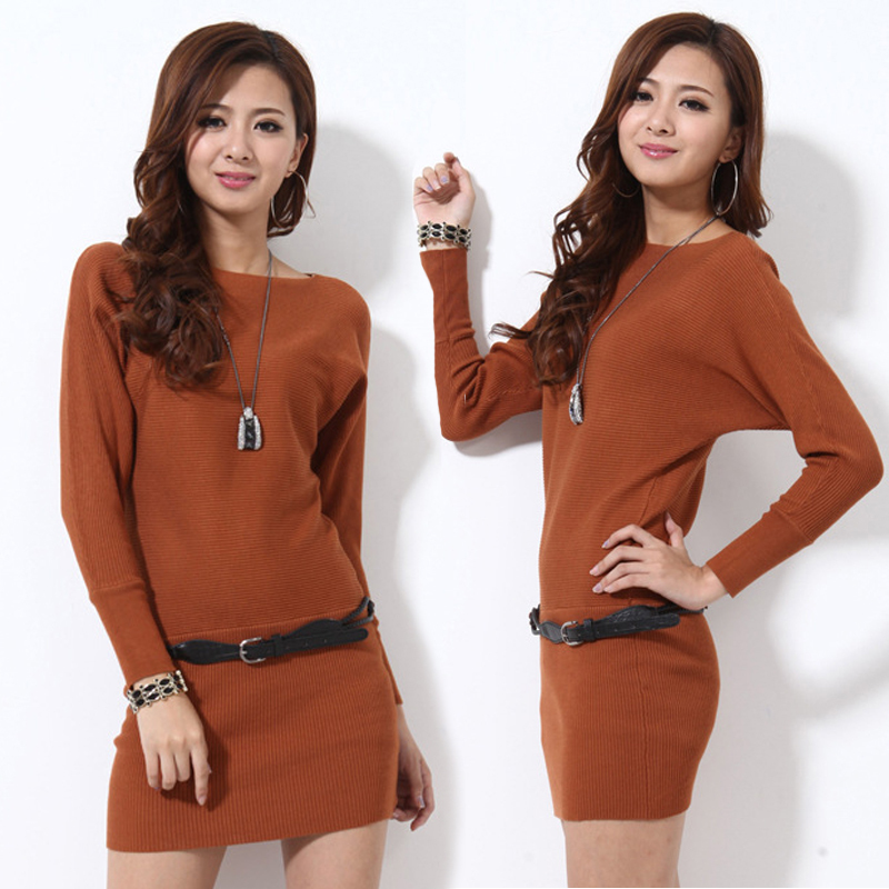 Sweater Dresses For Fall 2014 Fashion Women Clothes Red