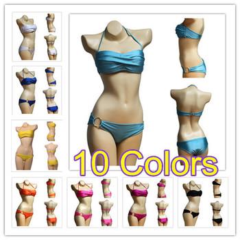 Hot Sale 2014 Fashion Brand for woman Sexy bikini with PAD Hot swimsuits Ladies swimwear beachwear bikini set 10 color