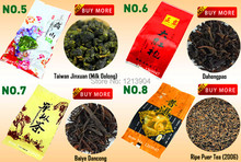 Free shipping 20 Different Flavors Famous Chinese Tea Including Oolong Puer Black tea Green tea Herbal