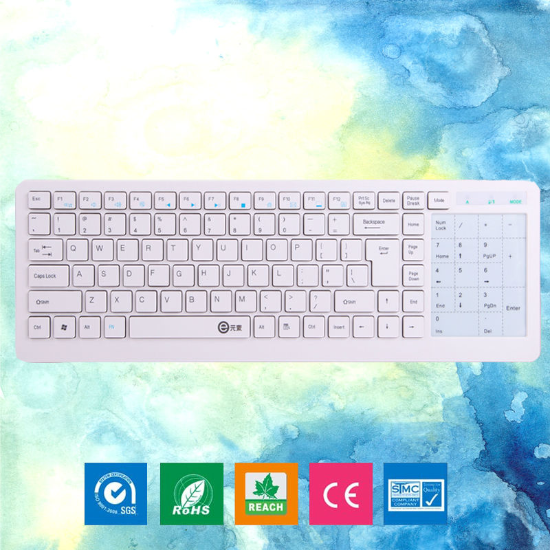 High Quality Ultrathin 2.4G Wireless Keyboard with Multi-touch Touchpad 2 in 1 Function Portable for Laptop Notebook Game Keypad<br><br>Aliexpress