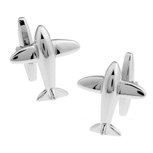 HYX Luxury shirt Silver Plane cufflink for mens Brand cuff buttons cuff links High Quality abotoaduras Jewelry