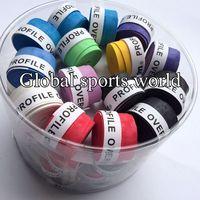60 pecs/lot (Assorted color) W profile overgrip Badminton Grip/tennis overgrips/tennis Sweatband